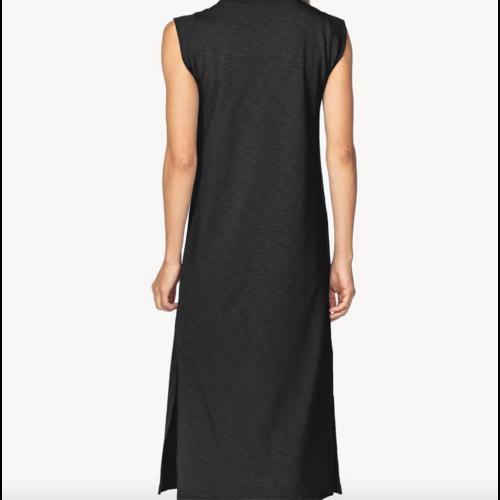 Lilla P Lilla P V Neck Midi Dress Blk PA1446