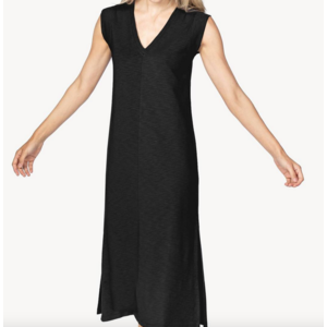 Lilla P Lilla P V Neck Midi Dress Blk