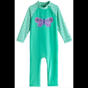 coolibar Coolibar Baby Beach One Piece Swim Bot Butterfly 03704