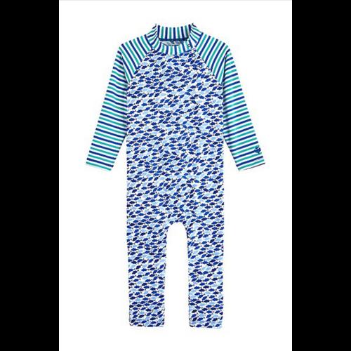 coolibar Coolibar Baby Beach One Piece Swim MArlin Blue Fish 03704