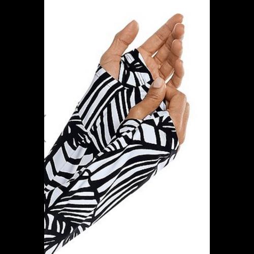 coolibar Coolibar Wailea Swim Cover Up Blk/Wht Great Palm 10417