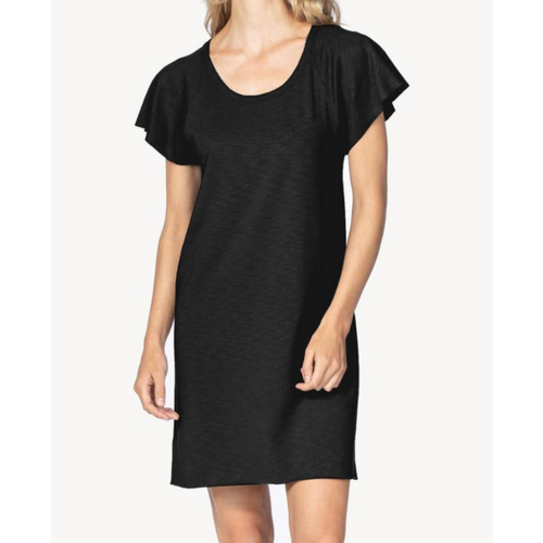 Lilla P Lilla P Rib Slv Shift Dress BLK