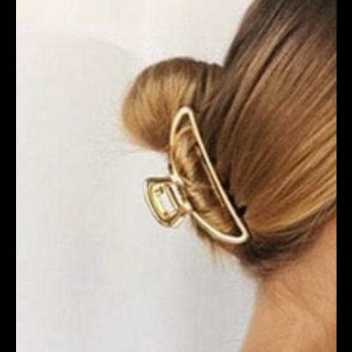 Kit-Sch Open Shape Claw Clip Gold 8431