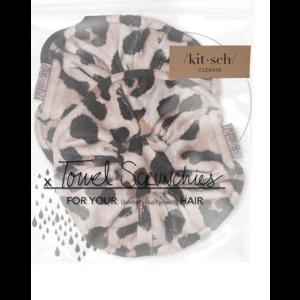 Kit-Sch Microfiber Scrunchies Leopard