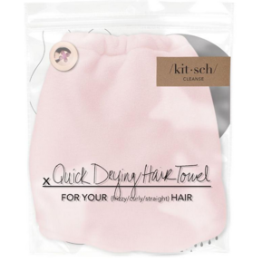 Kit-Sch Microfiber Hair Towel Blush