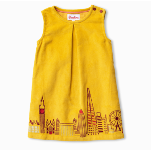 piccolina Piccolina Emb Cord Dress Architecture