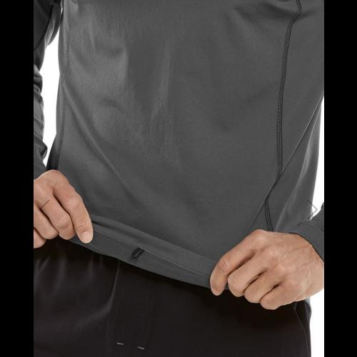 coolibar Coolibar Hightide LS Swim Shirt Charcoal 03530
