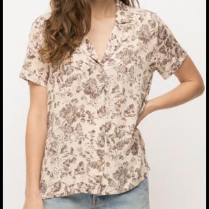 Mystree Mystree Washed Floral Vint Shirt Blush Mix
