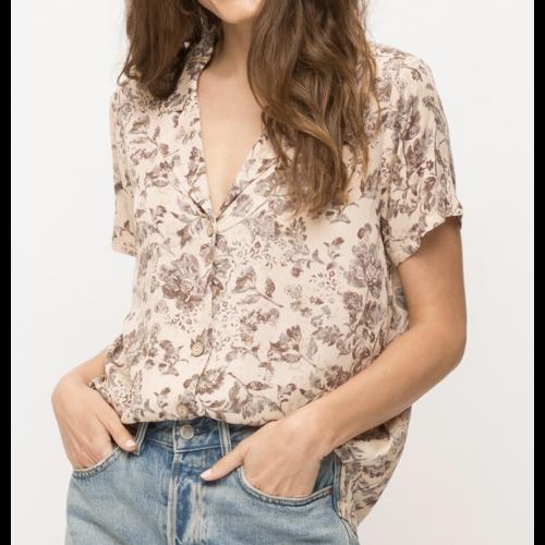 Mystree Mystree Washed Floral Vint Shirt Blush Mix 19248Q