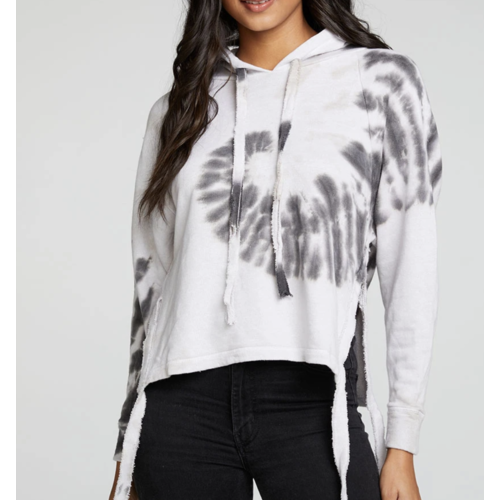Chaser Chaser Linen Terry LS PO Hoodie STRMY TD
