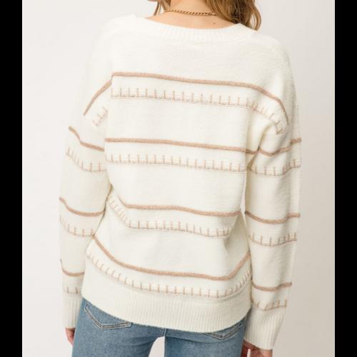 Mystree Mystree Lurex Sweater IVORY 19776