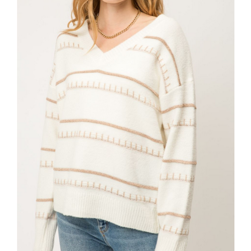Mystree Mystree Lurex Sweater IVORY