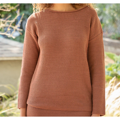 Mystree Mystree Soft Sweater Rust