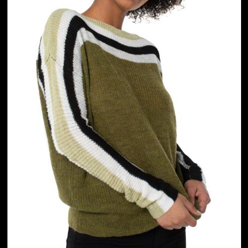 Liverpool Liverpool Stripe Oversized Sweater OLH