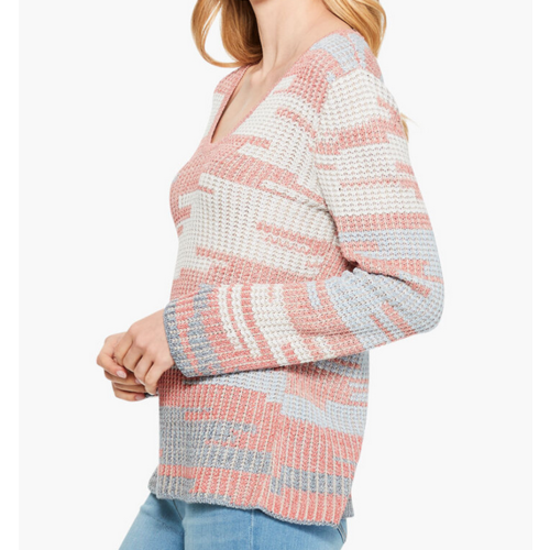 Nic & Zoe Terracotta Sky Sweater RED F211133