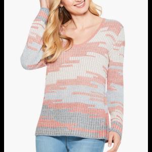 Nic & Zoe Terracotta Sky Sweater RED