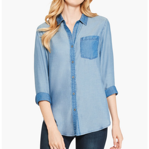 Nic & Zoe In and Out Chambray F211615