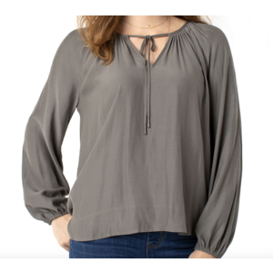 Liverpool Liverpool Shirred Blouse DUSTY OLIVE