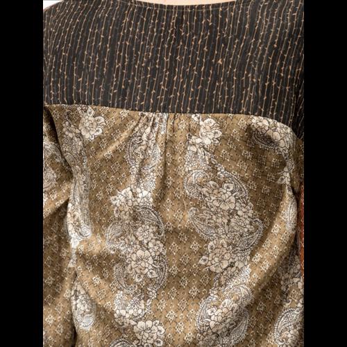 Mystree Mystree Mix Print Blouse Olv/Rust 19697C