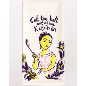 BLUE Q Blue Q Dish Towel- Get the Hell Out WW309
