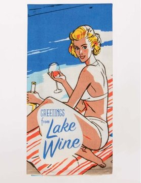 BLUE Q Blue Q Dish Towel- Greetings From Lake Wine WW321