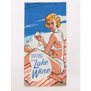 BLUE Q Blue Q Dish Towel- Greetings From Lake Wine WW321