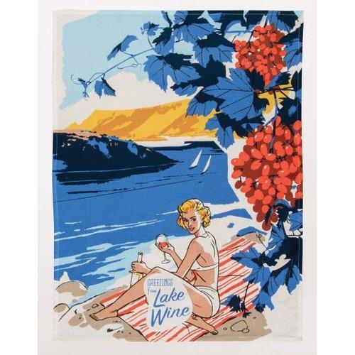 BLUE Q Blue Q Dish Towel- Greetings From Lake Wine