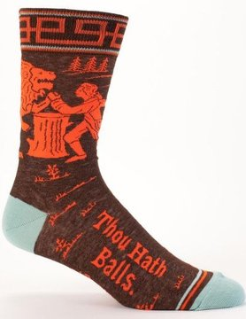 BLUE Q BLue Q Thou Hath Balls Men's Socks SW817
