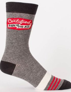 BLUE Q Blue Q Certified Pain Ass Men's Crew Socks SW847