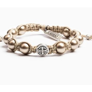 My Saint My Hero My Saint My Hero Divine Blessings Bracelet Tan/Plat/Slv BPBP-S-103