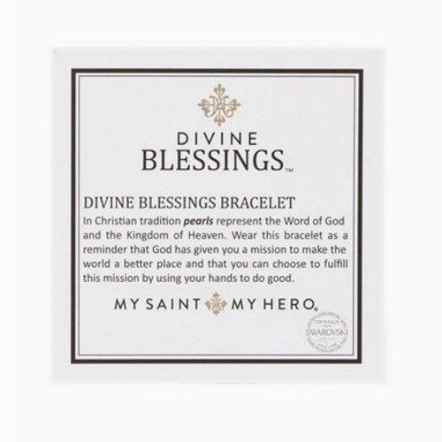 My Saint My Hero My Saint My Hero Divine Blessings Bracelet Tan/Plat/Silver