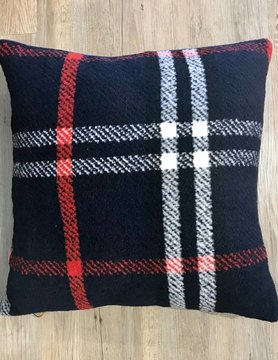 CREATIVE COOP Creative Co-op Sqr Wool Pillow Plaid DA9275