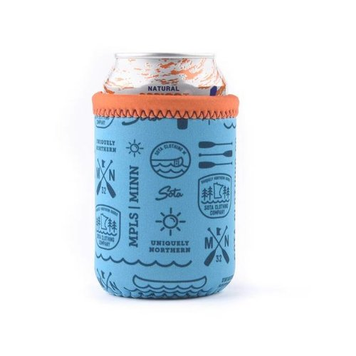 Sota Clothing Sota Crystal Beach Can Cooler Teal Print