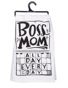 PRIMITIVES BY KATHY Primitives Boss Mom Dish Towel 33195