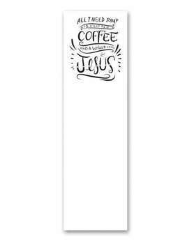 PRIMITIVES BY KATHY Primitives by Kathy List Notepad- Coffee & Jesus 36521