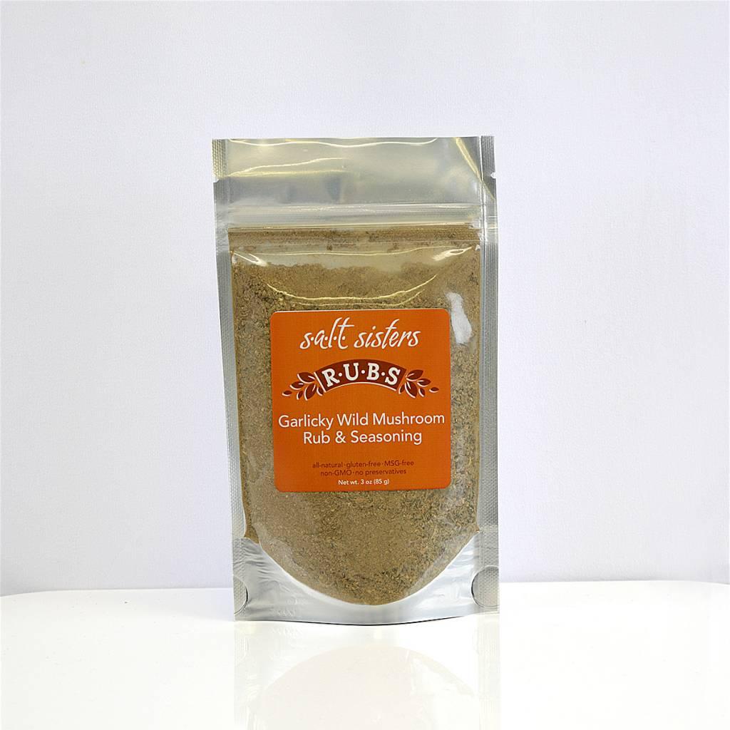 SALT SISTERS Salt Sisters Garlicky Wild Mushroon Rub & Seasoning 3oz