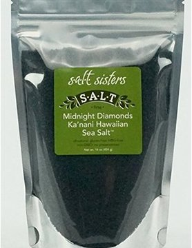 SALT SISTERS Salt Sisters Midnight Diamonds Ka'nani Hawaiian Sea Salt 4oz 182-cp4
