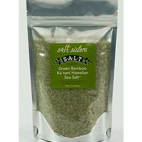 SALT SISTERS Salt Sisters Green Bamboo Ka'nani Hawaiian Sea Salt 4oz 184-cp4