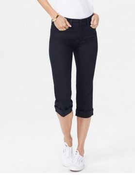 Not Your Daughter Jeans NYDJ Marilyn Crop Cuff Black M77Z2108