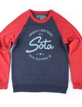 Sota Clothing Sota Canyon Valley Crewnck Nvy/Rd
