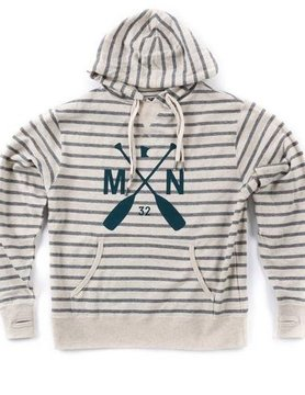 Sota Clothing Sota Afton Striped Swtshrt Salt/Pepper