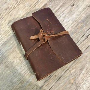 Rustico Good Book w/Wrap Closure Saddle BK0040
