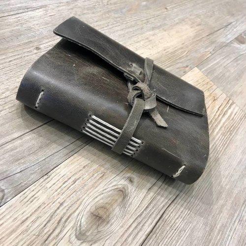 Rustico Good Book w/Wrap Closure Charcoal BK0040