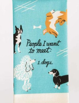 BLUE Q Blue Q Dish Towel- People To Meet: Dogs
