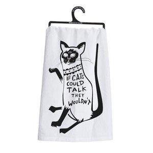 PRIMITIVES BY KATHY Primitives Cats Could Talk Dish Towel