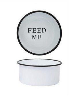 "CREATIVE COOP Creative Co-op 'FEED ME' 8"" Pet Dish"