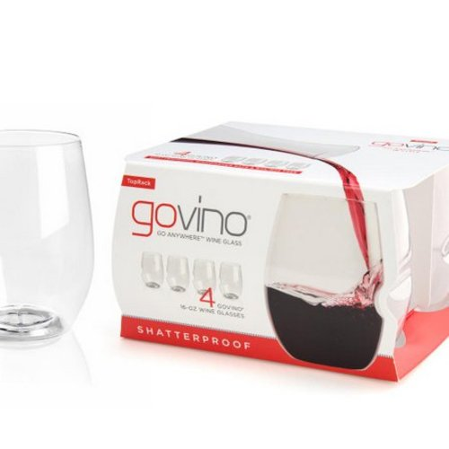 GoVino Dishwasher Safe Wine Glass 4 pack