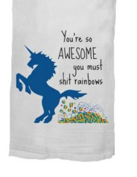 Twisted Wares- Missy Made Twisted Wares Dish Towel-S*** Rainbows