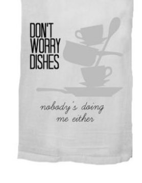 Twisted Wares- Missy Made Twisted Wares Dish Towel-Don't Worry Dishes