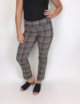 """UP Up Side Vent 28"""" Oxford Plaid Pant"""